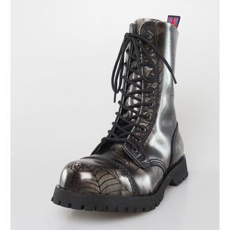 boots NEVERMIND - 10 eyelet - Grey Spider, NEVERMIND