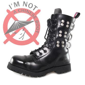 boots NEVERMIND - 10 eyelet - Rivets Black, NEVERMIND