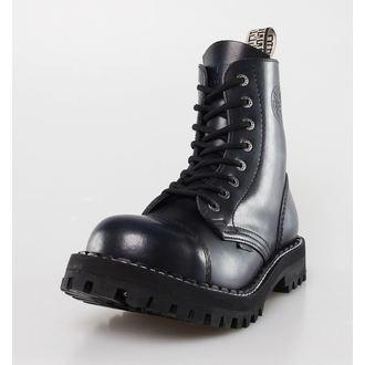 leather boots women's - STEEL, STEEL