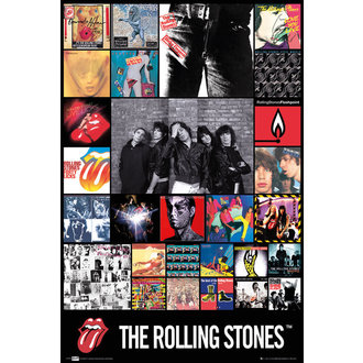 poster The Rolling Stones - Discography Maxi, GB posters, Rolling Stones