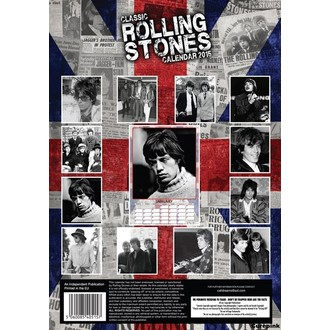 calendar to year 2015 ROLLING STONES, Rolling Stones