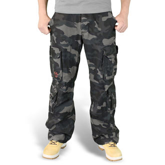 pants men SURPLUS - Airborne Vintage Trousers - Black Camo, SURPLUS