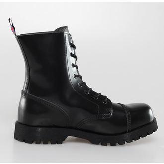 leather boots unisex - NEVERMIND - 10108S_PolidoBlack