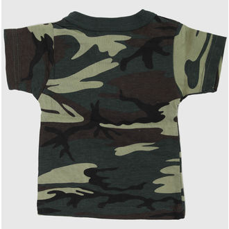 t-shirt men's children's - WOODLAND CAMO - ROTHCO, ROTHCO