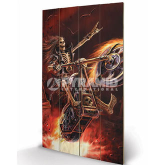 wooden image Anne Stokes - Hellrider - PYRAMID POSTERS, ANNE STOKES