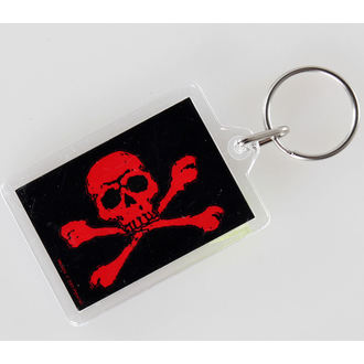 key ring (pendant) Skull and Crossbones - Red - PYRAMID POSTERS, PYRAMID POSTERS