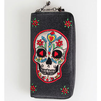 wallet BANNED - Candy Skull - WBN1407BL