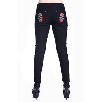 pants women BANNED - Sugar Skull - Black - TBN423