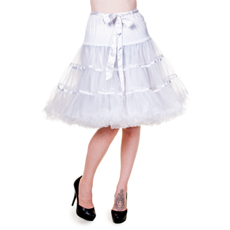 skirt women's (petticoat) BANNED - Petticoat Ribbon - White - SBN221WHT