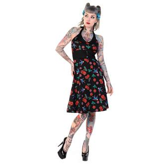 dress women BANNED - Cherry Skull Swallows - Black, BANNED
