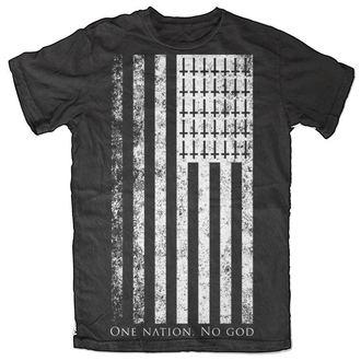 t-shirt men's women's unisex - One Nation. No God - BLACK CRAFT - MT024ON