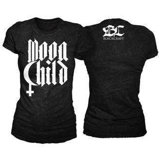 t-shirt women's unisex - Moon Child - BLACK CRAFT - WT012MD