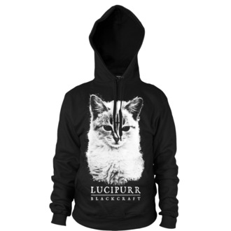 hoodie men's - Lucipurr - BLACK CRAFT - HS031LR