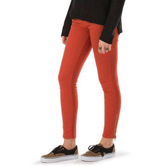 pants women VANS - Moto Skinny Denim - Ketchup, VANS