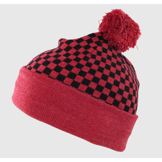 beanie VANS - Checkerboard Pom P - Heather Red, VANS