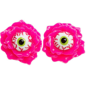 earrings SOURPUSS - Eyeball Corsage - Pink, SOURPUSS