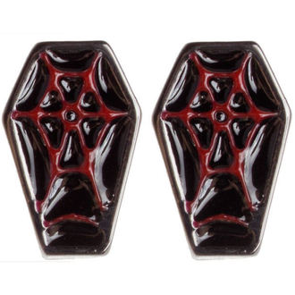 earrings SOURPUSS - Coffin - Black / Red, SOURPUSS