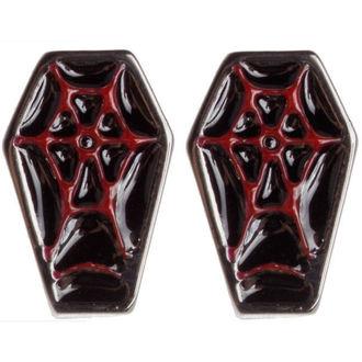 earrings SOURPUSS - Coffin - Black / Red, SOURPUSS