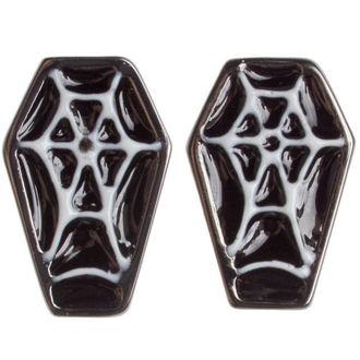 earrings SOURPUSS - Coffin - Black / White, SOURPUSS