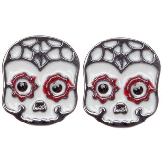 earrings SOURPUSS - Sugar Skull - Red, SOURPUSS