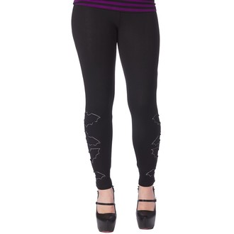 pants (leggings) women SOURPUSS - The Bats - Black, SOURPUSS