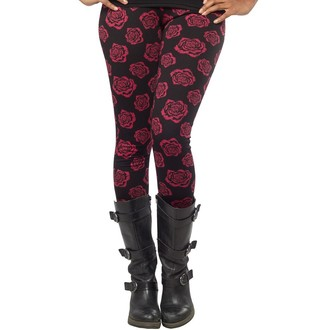 pants (leggings) women SOURPUSS - Omni Roses - Black, SOURPUSS