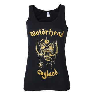 top women Motörhead - England Gold - Black - ROCK OFF - MHEADVT01LB