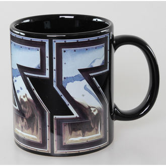 cup Kiss - Chrome Logo - Black ROCK OFF, ROCK OFF, Kiss