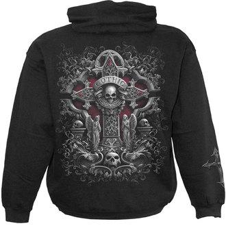 hoodie men's - IN GOTH WE TRUST - SPIRAL - D055M451