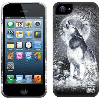 cover to cell phone SPIRAL - WHITE WOLF - IPHONE, SPIRAL