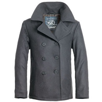 jacket men winter (COAT) BRANDIT - Pea Coat - Anthracite - 3109/5 (9156/5)