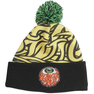 beanie SANTA CRUZ - Eyeball Bobble - Yellow / Black, SANTA CRUZ