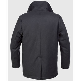 coat men's winter BRANDIT - Pea Coat - Black, BRANDIT