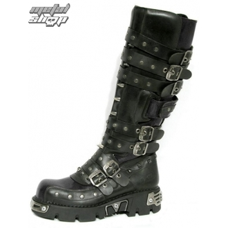 boots leather - Rivet High Boots (796-S1) Black - NEW ROCK, NEW ROCK