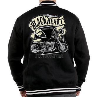 sweatshirt (no hood) men's - Motorcycle K. - BLACK HEART