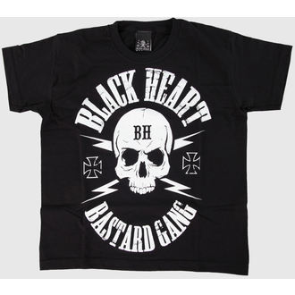 t-shirt street children's - Skull - BLACK HEART, BLACK HEART