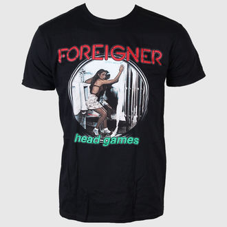 t-shirt metal men's Foreigner - Head Games - LIVE NATION, LIVE NATION, Foreigner