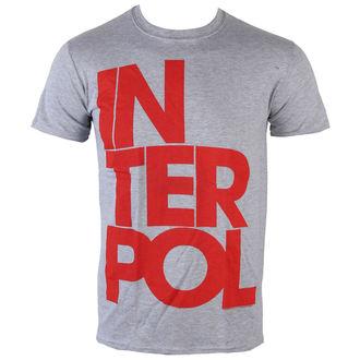 t-shirt metal men's Interpol - Stacked Logo - PLASTIC HEAD, PLASTIC HEAD, Interpol