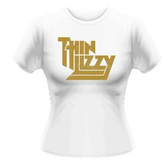 t-shirt metal women's Thin Lizzy - Gold Sparkle Logo - PLASTIC HEAD, PLASTIC HEAD, Thin Lizzy