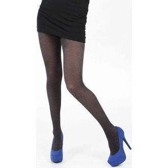 tights PAMELA MANN - Lurex Fine Net Tights - Black / Silver, PAMELA MANN