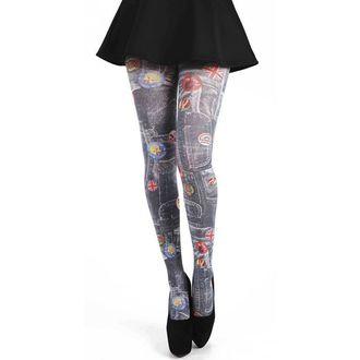 tights PAMELA MANN - Denim Rockabilly Printed Tights - Multi - 095