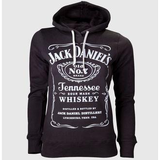 hoodie women's Jack Daniels - Black - JACK DANIELS, JACK DANIELS