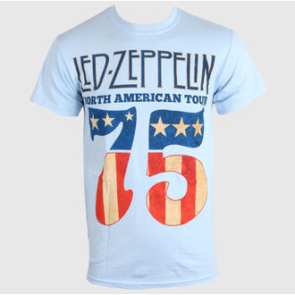 t-shirt metal men's Led Zeppelin - US 75 - LIVE NATION, LIVE NATION, Led Zeppelin