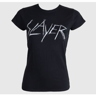 t-shirt metal women's Slayer - Scratchy Logo - ROCK OFF - SLAYTEE23LB