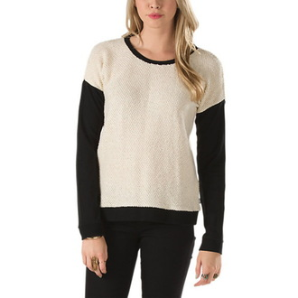 sweater women's Vans - Clockwork Crew - Creme, VANS