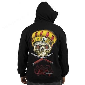 hoodie men's - Damon Badge - SULLEN - BLK