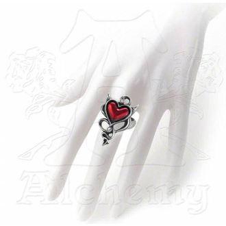 ring ALCHEMY GOTHIC - Devil Heart - ULFR6