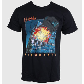 t-shirt metal men's Def Leppard - PYROMANIA - LIVE NATION, LIVE NATION, Def Leppard