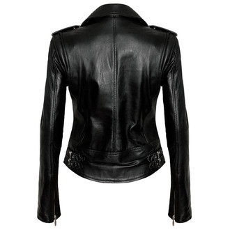 leather jacket women's - Vegan Biker - KILLSTAR, KILLSTAR
