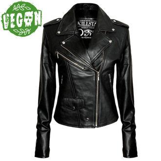 jacket women's (leather jacket) KILLSTAR - Vegan Biker - Black - 0302